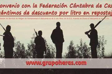 Convenio del Grupo Heras con la Federación Cántabra de Caza